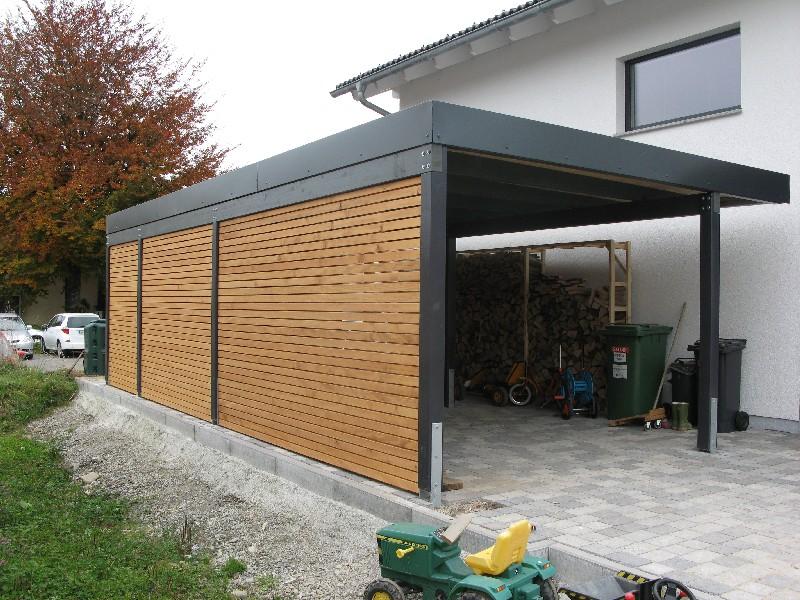 Carport von wachter holz fensterbau wintergarten gartenhaus carport oder gefl gelstall - Gartenhaus fassadenplatten ...