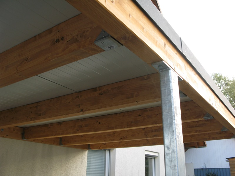 Carport von wachter holz fensterbau wintergarten for Carport detail